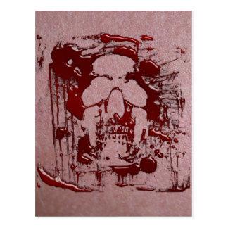 Blood Skull #2 Postcard