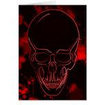 Blood Skull Card