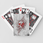 Blood Skull Goth Bicycle® Playing Cards