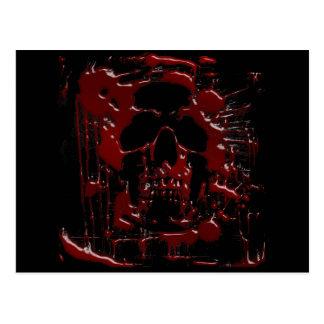 Blood Skull Postcard