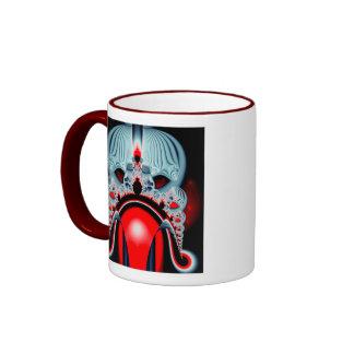 Blood Skullcap Fractal Ringer Mug