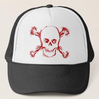 Blood Smeared Skull & Bloody Cross Bones Trucker Hat