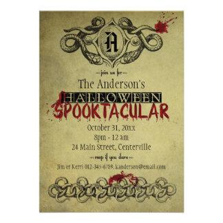 Blood Snakes Halloween Spooktacular Invitation