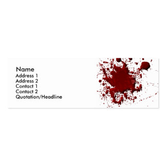 Blood Spatter Card Double-Sided Mini Business Cards (Pack Of 20)