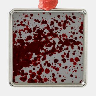 Blood Spatter Metal Ornament