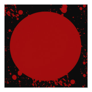 Blood Spatter Red Oval Square Invitation