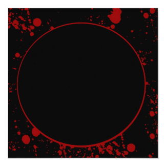 Blood Spatter Square Invitation