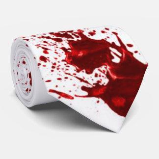 Blood spatter tie