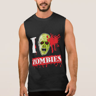 Blood Spattered Zombie Geek Sleeveless Shirt