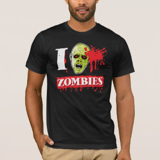 Blood Spattered Zombie Geek T-Shirt