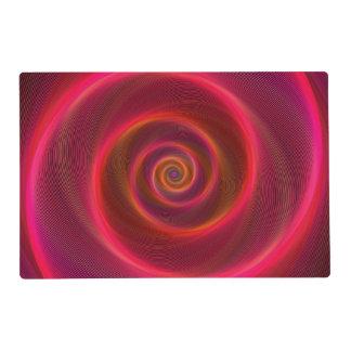 Blood spiral placemat