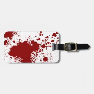 Blood Splash Bag Tag