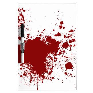 Blood Splash Dry-Erase Board