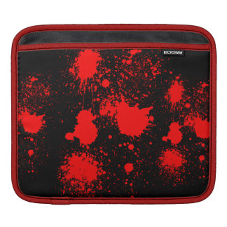 Blood splash sleeves for iPads