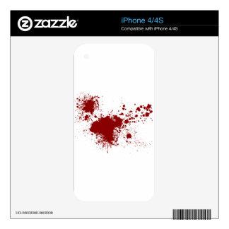 Blood Splash iPhone 4 Decals
