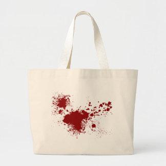 Blood Splash Large Tote Bag