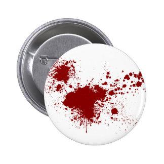 Blood Splash Pinback Button