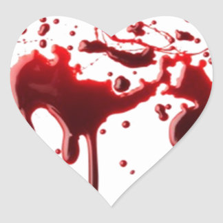 blood splatter 3 heart sticker
