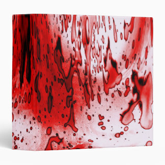 Blood Splatter 3 Ring Binder
