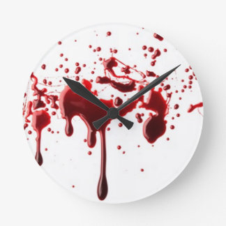 blood splatter 3 round clock