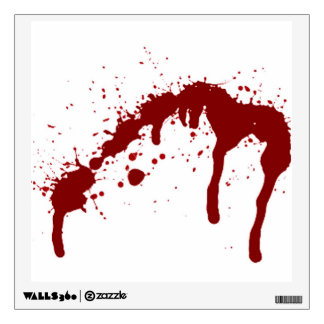 blood splatter 6.png wall decal