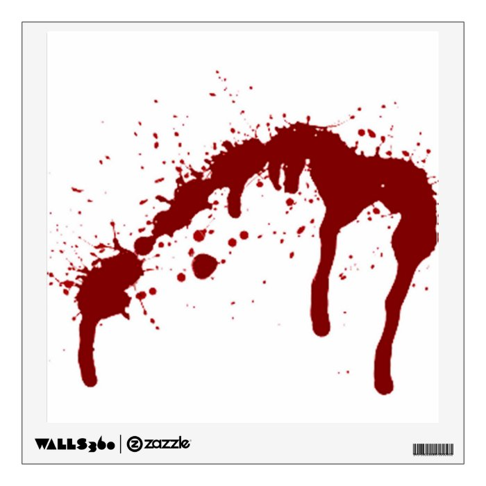 Blood Splatter 6 Png Wall Decal Zazzle