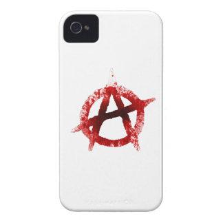 Blood Splatter Anarchy Symbol Case-Mate iPhone 4 Case
