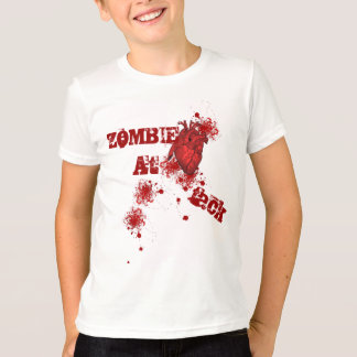Blood splatter and realistic heart Halloween T-Shirt