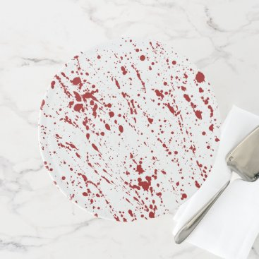 Halloween Themed Blood Splatter Bloody Horror Halloween Red Spatter Cake Stand