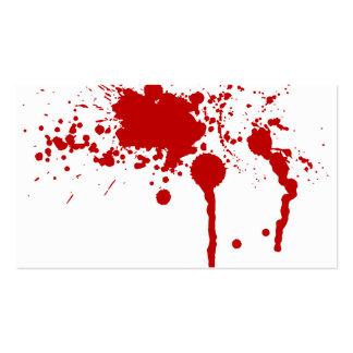 Blood Splatter Bloody Wound Bleeding Halloween Business Card