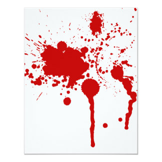 Blood Splatter Bloody Wound Bleeding Halloween Card