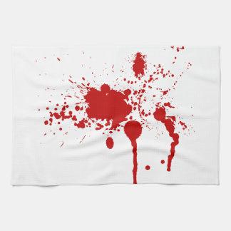 Blood Splatter Bloody Wound Bleeding Halloween Hand Towel