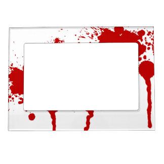 Blood Splatter Bloody Wound Bleeding Halloween Magnetic Frame