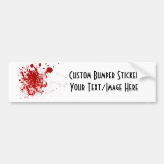 Blood Splatter Car Bumper Sticker