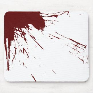 Blood Splatter Design Mouse Pad