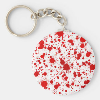 Blood Splatter ... Dexter Would Kill For This Basic Round Button Keychain