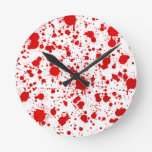 Blood Splatter ... Dexter Would Kill For This Round Clock