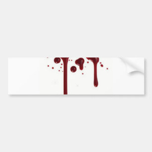 Blood splatter splotch. Bumper stickers car zazzle