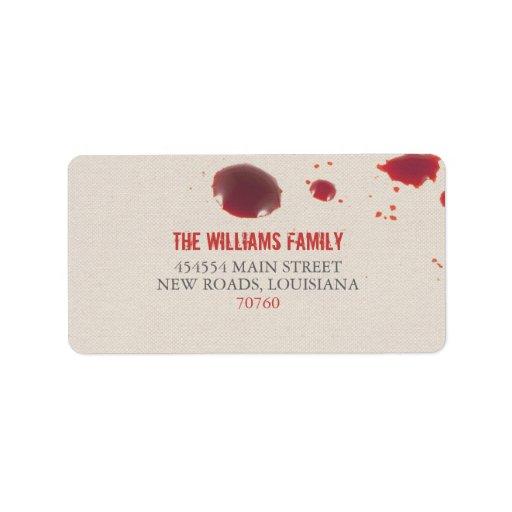 Blood Splatter | Halloween Custom Address Label