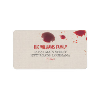 Blood Splatter | Halloween Label