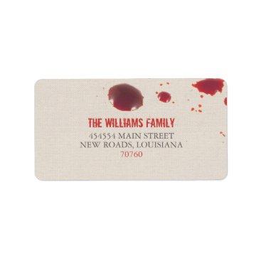 Halloween Themed Blood Splatter | Halloween Label