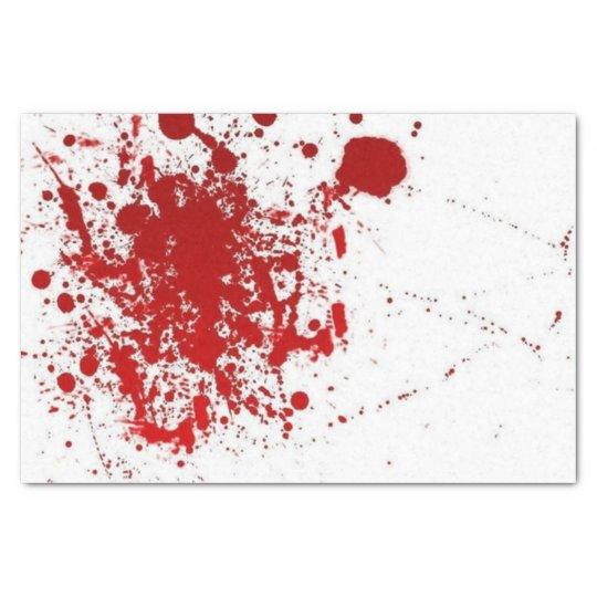 Blood Splatter Halloween Tissue Paper