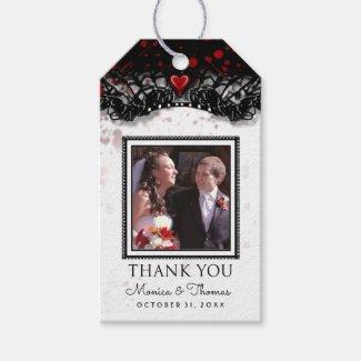 Blood Splatter Halloween Wedding Photo Thank You
