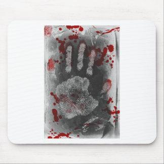Blood Splatter Handprint Mouse Pad