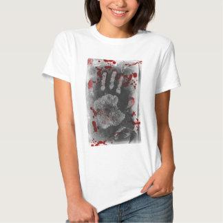 Blood Splatter Handprint Tee Shirt