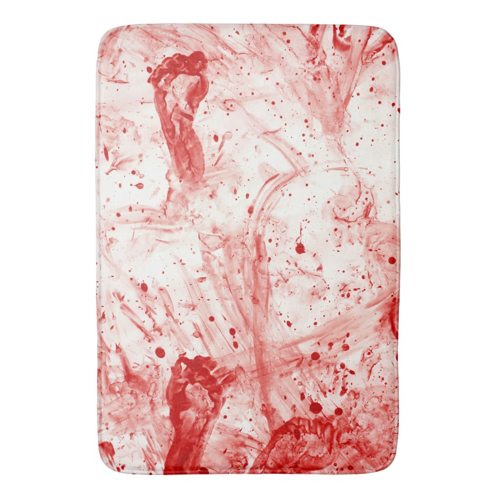 Mess Bloodstain Pattern Rug Halloween Blood Splatter Bath Mat