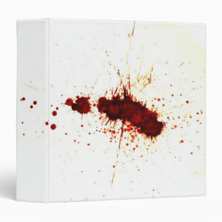 Blood Splatter on the Wall Binder