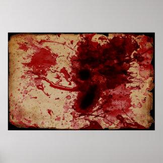 Blood Splatter Posters
