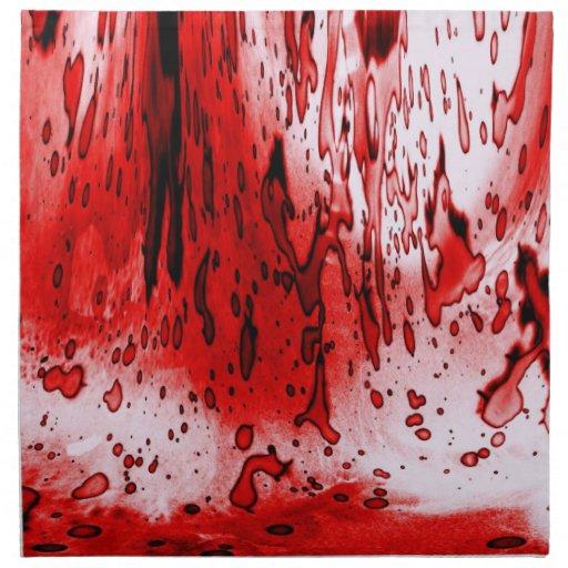 Blood Splatter Printed Napkin