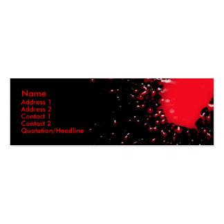 Blood Splatter Profile Card Business Card